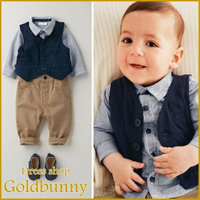 Dress shop GOLDBUNNY | Rakuten Global Market: Boy suit rompers ...