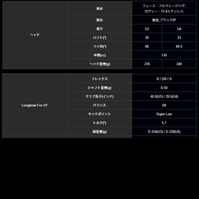 HARAKEN【ハラケン】DOCUS【ドゥーカス】 DCU711 UT DOCUS Longbowシリーズ
