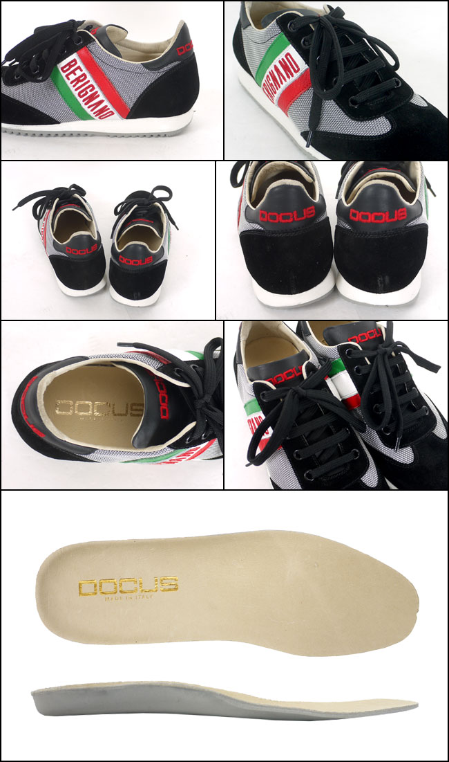 ドゥーカス DOCUS BERIGNANO イタリア製レディース ゴルフシューズ ブラック あす楽