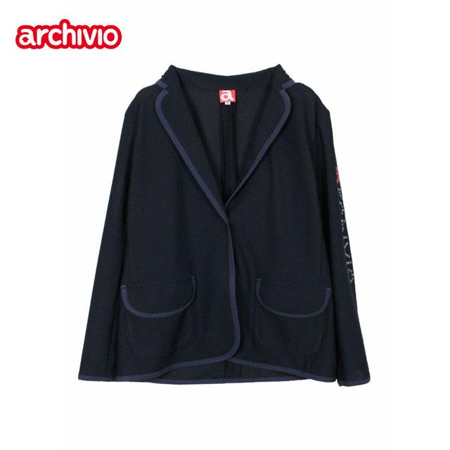 アルチビオ archivio ジャケット レディース ゴルフ ウェア [36-40] ネイビー ホワイト A954230