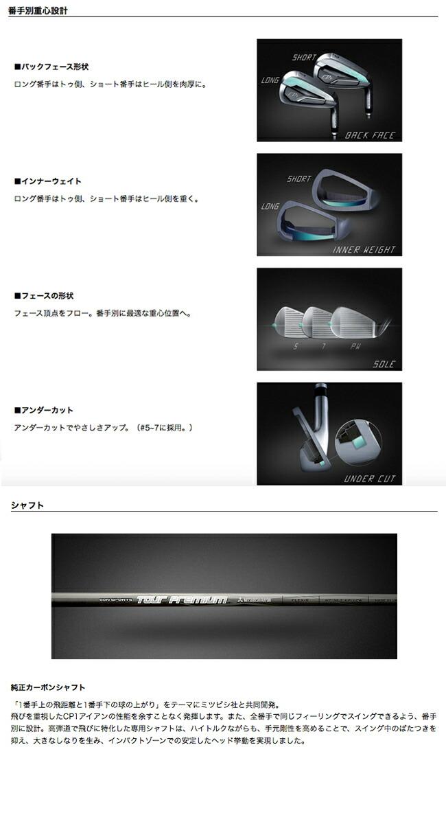 EON SPORTS【イオンスポーツ】GIGA【ギガ】メンズゴルフクラブ CP1 アイアン 6本セット(#5-PW) オリジナルカーボンシャフト