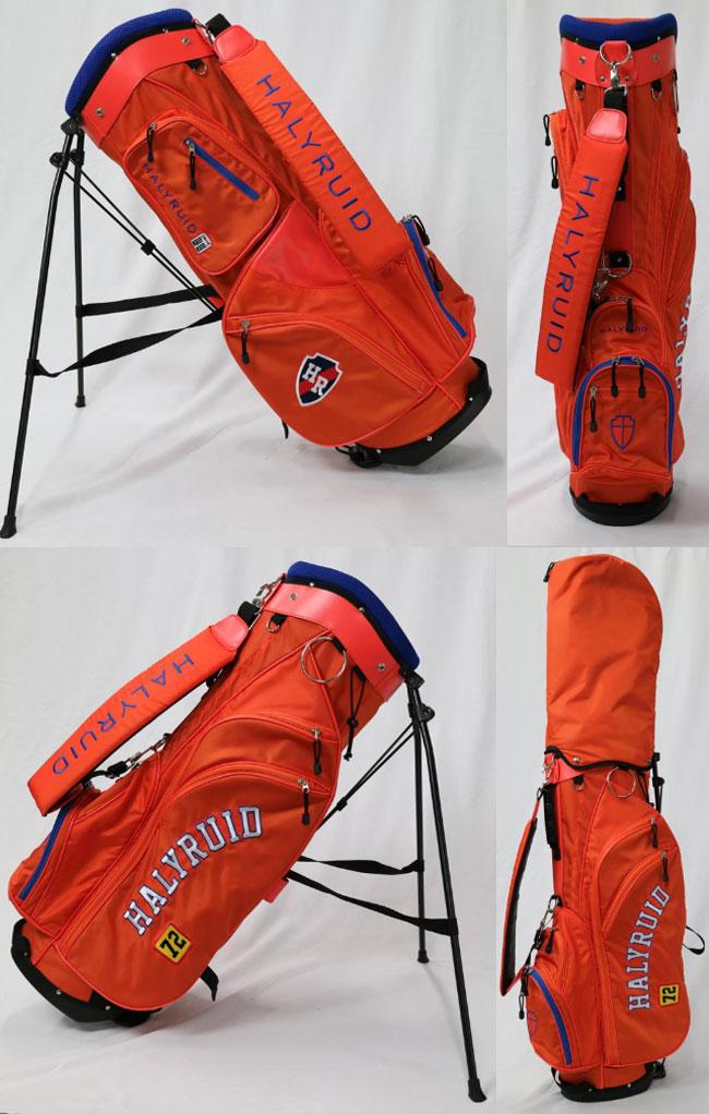 ハリールイドHALYRUIDメンズゴルフスタンド式キャディバックオレンジHU38915