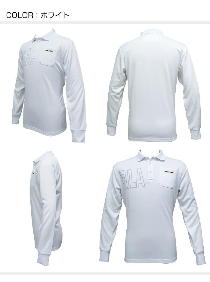 ポケット付 長袖ポロシャツ  FILA golf wear 786-565