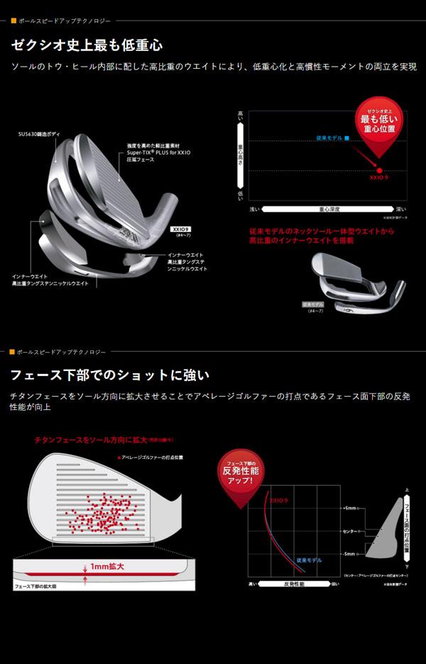 【特注品 送料無料】 ダンロップ 2016 メンズ ゼクシオ9 アイアン5本セット(6-PW) MP900 カーボンシャフト 【ゴルフクラブ】