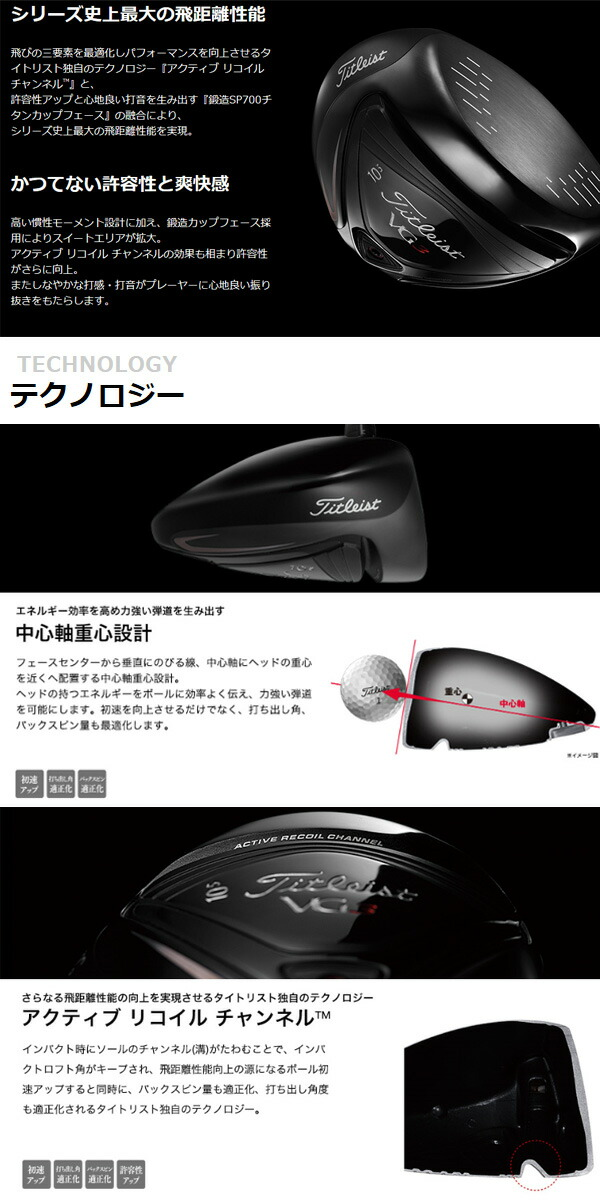【2016年3月発売】【予約販売】タイトリスト VG3 ドライバー タイトリストVG50/60シャフトモデル [Titleist]【ゴルフクラブ】
