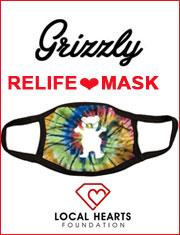 洗って繰り返し使える!グリズリー デッキテープのマスク洗える マスク グリズリー GRIZZLY OG Bear Face
