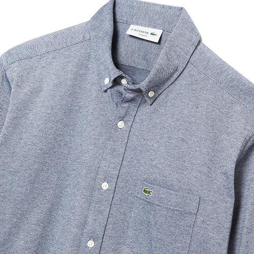 ラコステ メンズ 長袖オックスフォードボタンダウンシャツ PH230E
