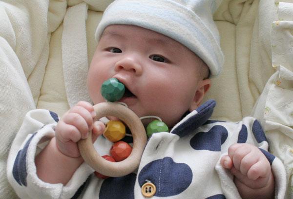 0歳 赤ちゃんに優しいすべすべの木のおもちゃ