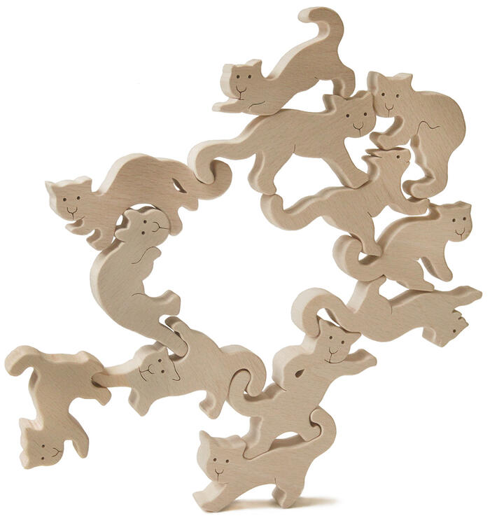 Cats Wood Toys