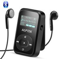AGPTEK MP3プレーヤー クリップ式 ランニング用 Bluetooth搭載 ロスレス音質 小型 ミュージックプレーヤー ミニ 音楽プレーヤー 運動用 ウォークマン FMラジオ/録音 内蔵8GB マイクロSDカードに対応 30時間再生可能 防汗シリコンカバー&アームバンド付き ブラック