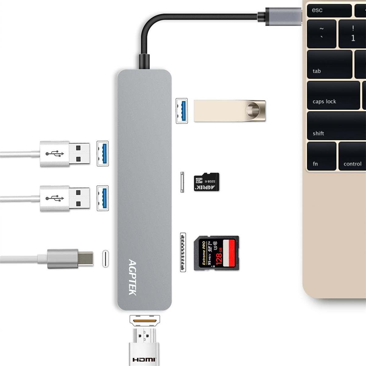 【楽天市場】AGPTEK USB-C ハブ 多機能7-in-1 4K HDMI出力 タイプ C マルチ変換アダプター