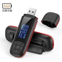AGPTEK MP3プレーヤー 乾電池対応 ロスレス音質 FMラジオ/録音 USB端子搭載 内蔵8GB マイクロSDカード対応 保証1年 U3 ブラック
