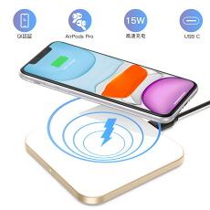 iPhone12 ワイヤレス充電器 iPhone 15W 11W 10W 7.5W 5W出力 急速充電 置くだけ充電 過充電保護 超薄型 おしゃれ コンパクト QC3.0 卓上 無線 ワイヤレスチャージャー iPhoneSE iPhone11/Pro/SE/XS/XR/iPhoneX Xperia Galaxy SHARP LG 対応 Qi ワイヤレス充電 iPhone Android