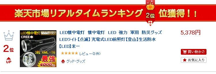 懐中電灯 LED 4000ルーメン