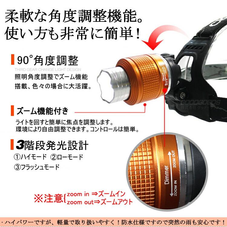 LEDヘッドランプ 充電式 ヘッドライトグッド/グッズ正規品