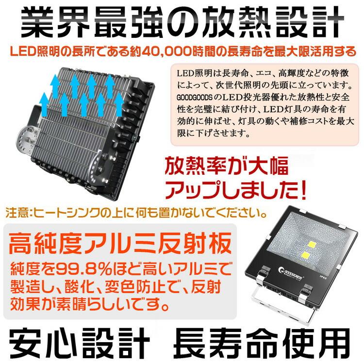 最新 超爆光 LED 投光器 100W フラッドライト 作業灯