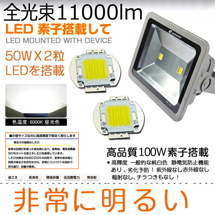 LED 投光器 LED サーチライト 100W・1000w相当 投光機 屋外・室内照明
