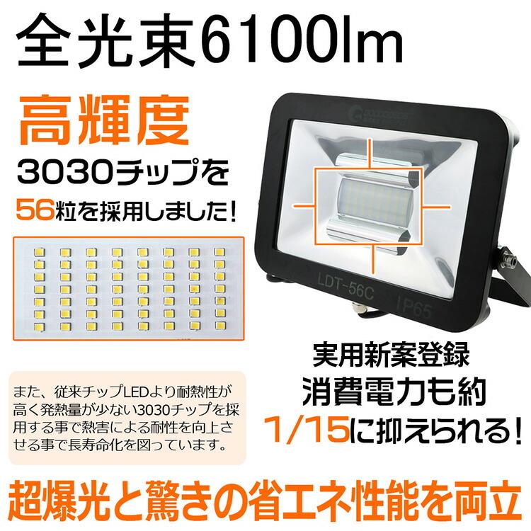 LED 投光器 50w 500W相当 LED 投光器 スタンド 投光器 led 屋外 ワークライト 集魚灯 作業灯 看板照明 アウトドア