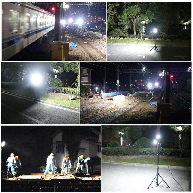 LED 投光器 三脚スタンド 100W 10000lm 超高輝度 昼白色 作業灯 LED ワークライト 広角120° 水銀灯代替品 LD-01ZJ