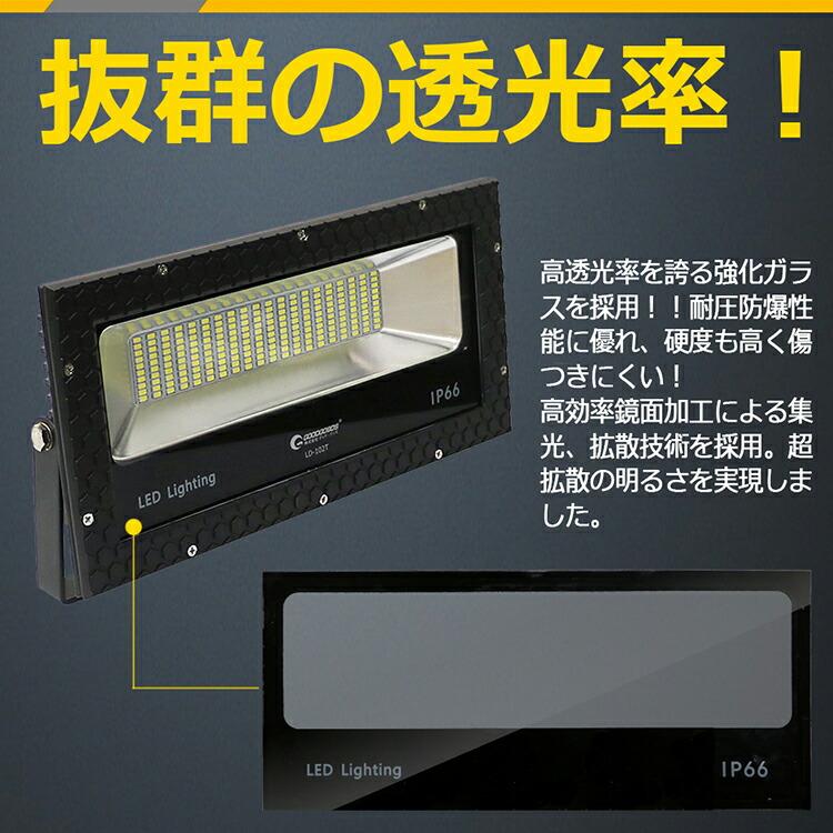 led投光器 100w 1000W相当 1400lm 高輝度