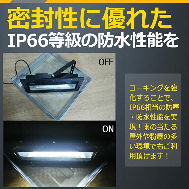 薄型 led投光器 50w スポットライト 薄型設計 庫内作業