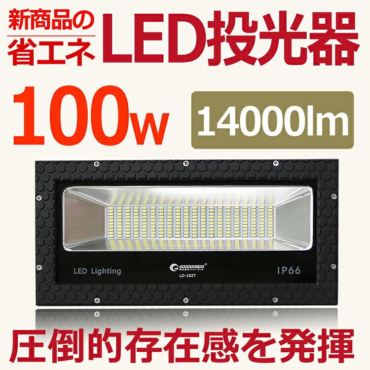 LED 看板灯 店 舗照明 100W 1000W相当 看板ライト 極薄型 14000lm 商店街 ライトアップ 街灯