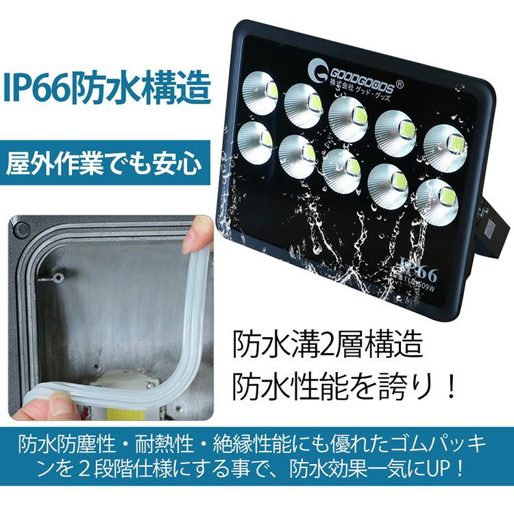 大型LED投光器 500w 53000lm スポットライト 屋外 照明 防水