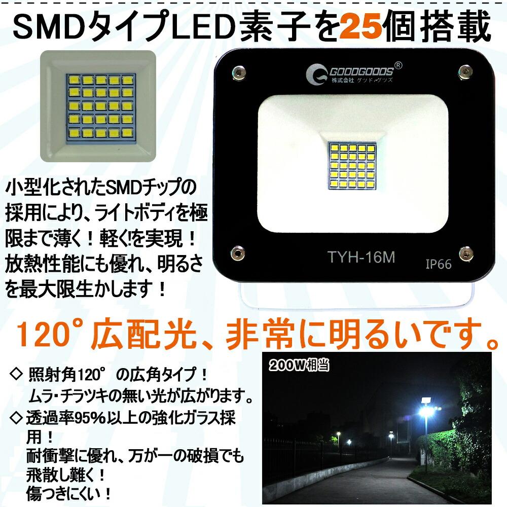 LED ソーラーライト 20W