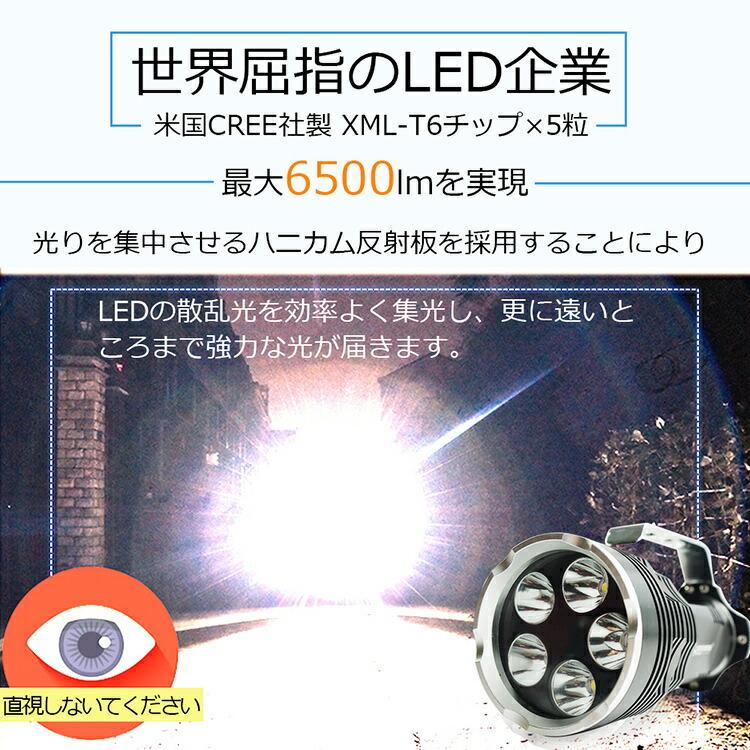 LED 懐中電灯 CREE LEDライト 充電式 超強光