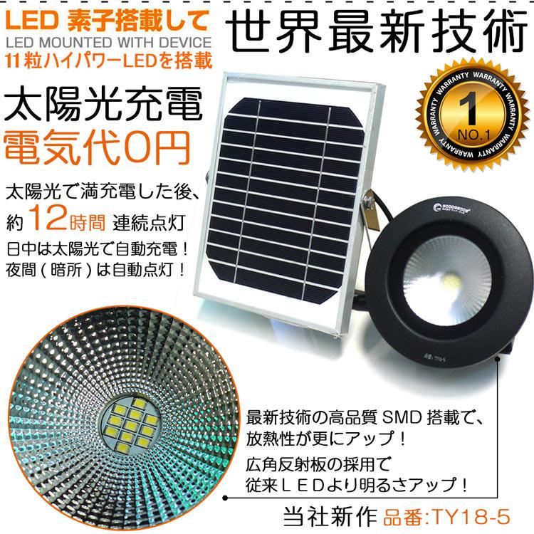 LED投光器 50W 充電式