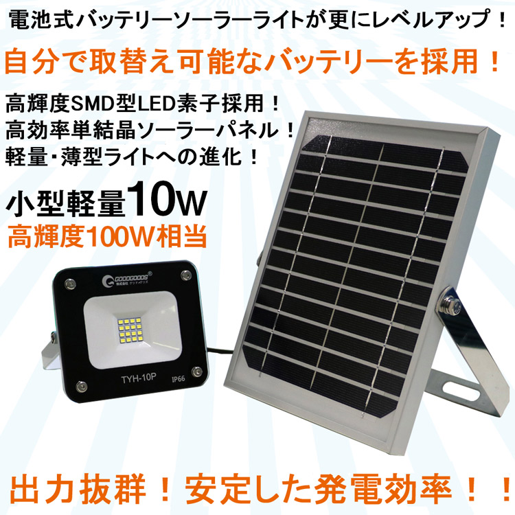 LEDソーラーライト ソーラー投光器 ソーラー発電