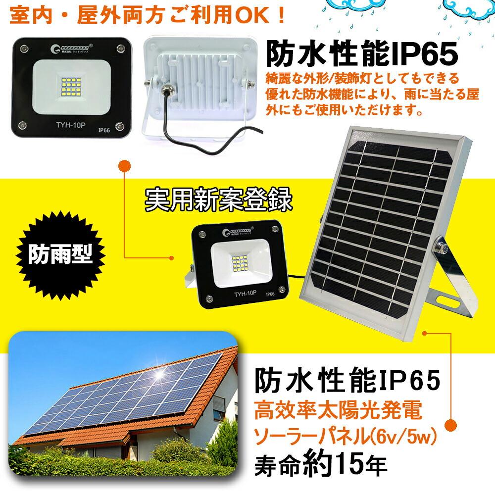 LED投光器 屋外照明 アウトドア キャンプ solar