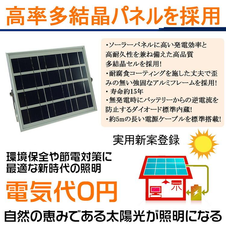 LED ソーラーライト20W