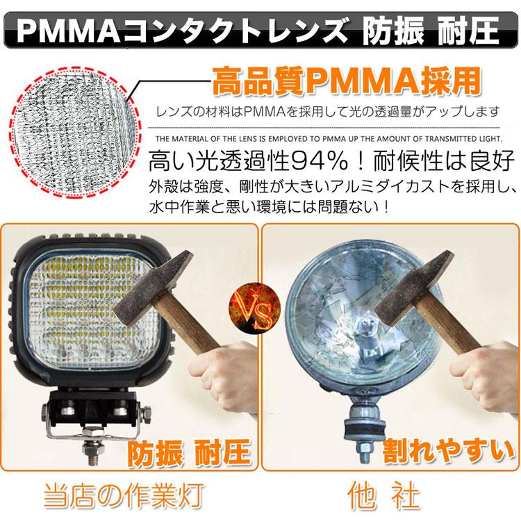 LED作業灯 40W DC12/24V対応 4000LM 明るさは通常の白熱灯の約40倍