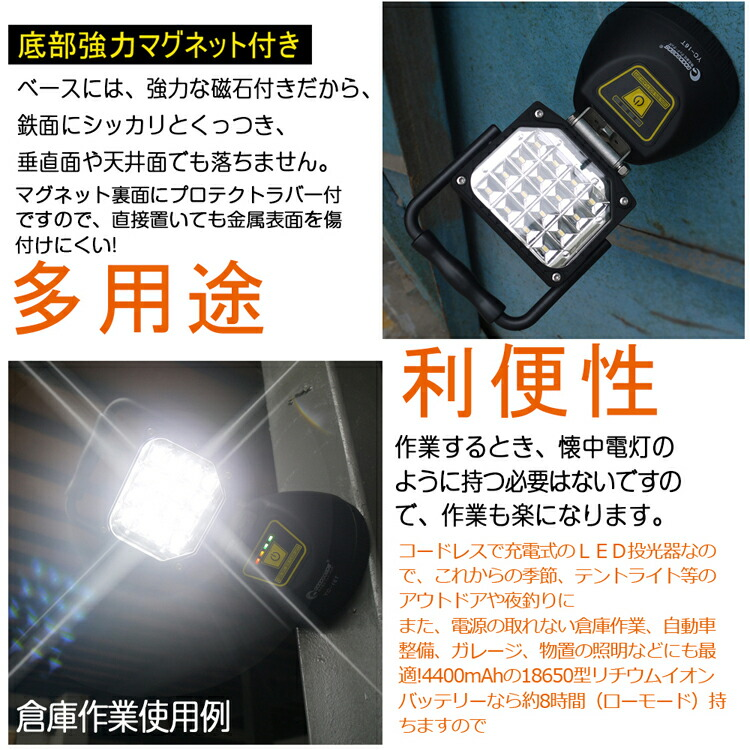 投光器 led 屋外 16W 1800lm