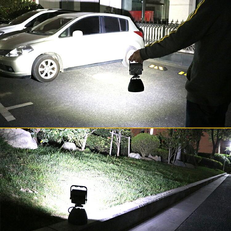 作業灯 投光器 led 充電式 コードレスモバイルバッテリー スマホ充電可