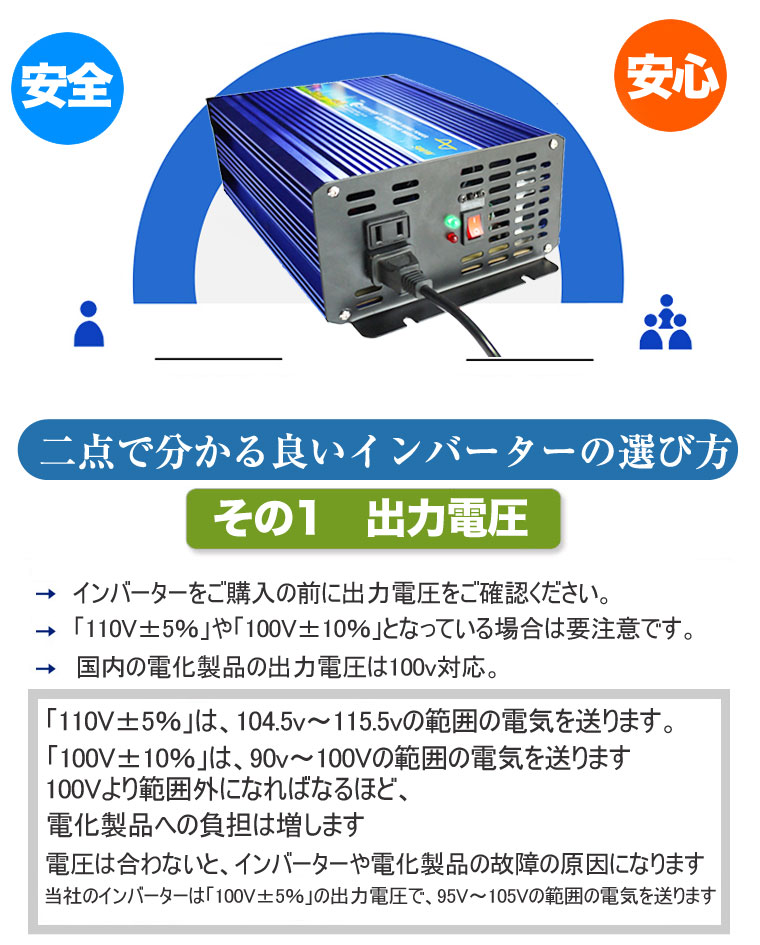 正弦波インバータ 12V 100V 純正弦波 可変周波数 インバータ発電機 50Hz/60Hz 定格1000W 瞬間最大2000W  DC12V→AC100V パワーインバーター 電力変換装置 逆変換回路 逆変換装置 直流から交流へ カー用品