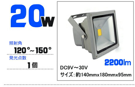 LED投光器 20W DC