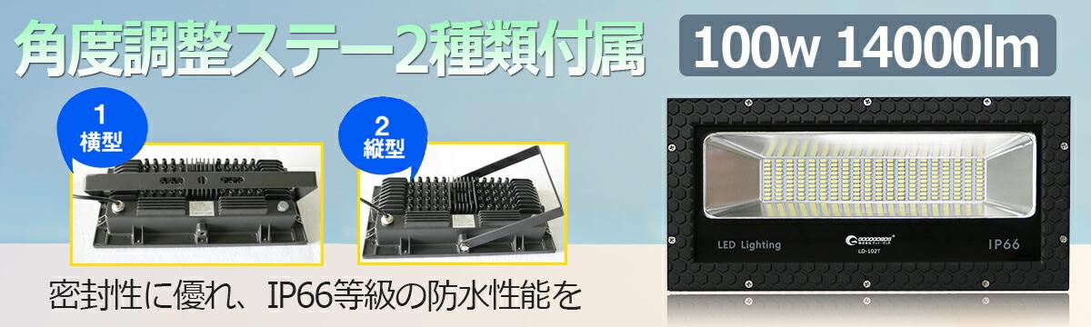 LED 投光器 14000lm ステー 投光器 スタンド