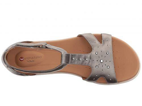 クラークスClarksレディース女性用シューズ靴サンダルUnReiselMara-PewterMetallicLeather