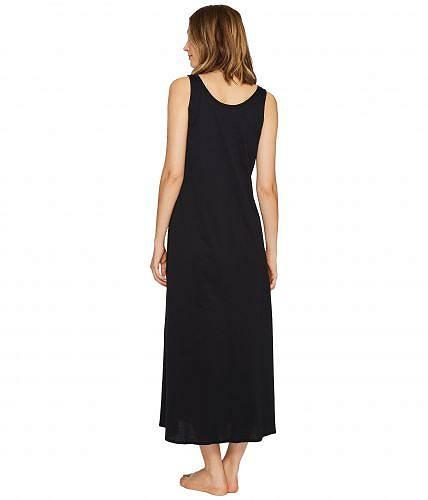 ハンロHanroレディース女性用ファッションパジャマ寝巻きナイトガウンCottonDeluxeLongTankNightgown-Black