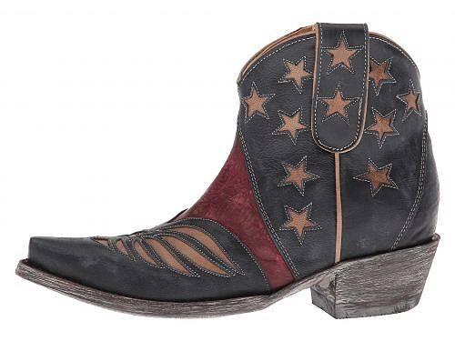 オールドグリンゴOldGringoレディース女性用シューズ靴ブーツウエスタンブーツUnitedShort-Blue/Red