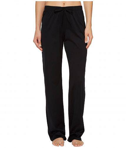 ハンロHanroレディース女性用ファッションパジャマ寝巻きCottonDeluxeDrawstringLongPants-Black