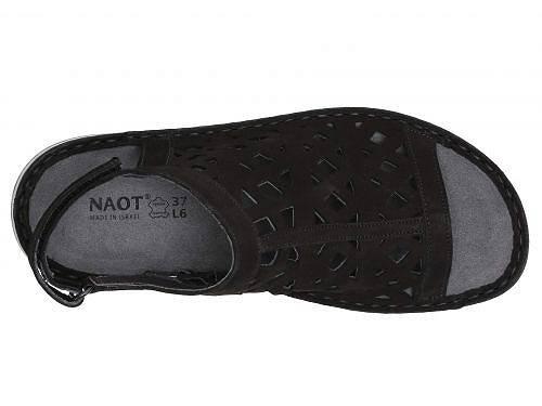 ナオトNaotレディース女性用シューズ靴サンダルAmadora-BlackVelvetNubuck