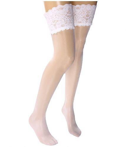ウォルフォードWolfordレディース女性用ファッション下着ストッキングSatinTouch20Stay-UpThighHighs-White
