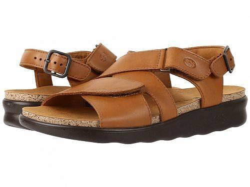 サスSASレディース女性用シューズ靴サンダルHuggy-Caramel