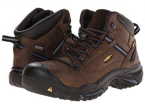 キーンKeenUtilityメンズ男性用シューズ靴ブーツ安全靴ワーカーブーツBraddockMidAL-Bison/EnsignBlue