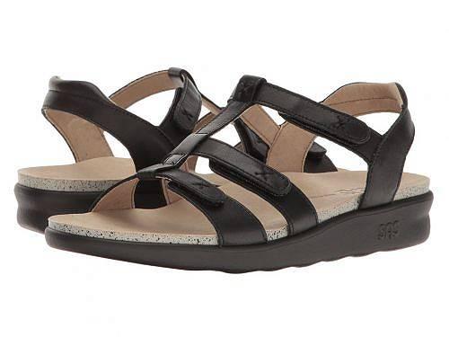 サスSASレディース女性用シューズ靴サンダルSorrento-Black
