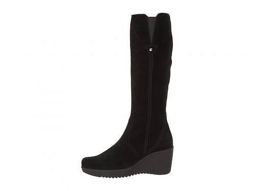 ラカナディアンLaCanadienneレディース女性用シューズ靴ブーツロングブーツGrace-BlackSuede