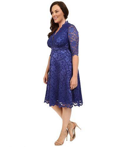 キヨンナKiyonnaレディース女性用ファッションドレスMademoiselleLaceDress-SapphireBlue
